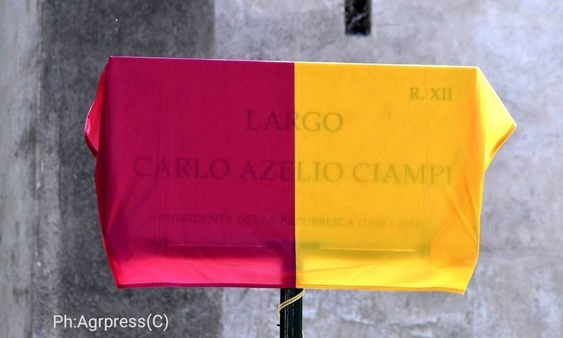 Gaffe del Campidoglio sulla targa di Ciampi sbagliato nome battesimo