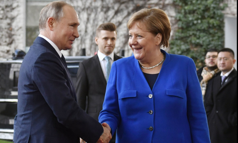 Addio Angela Merkel Bundestag Vladimir Putin