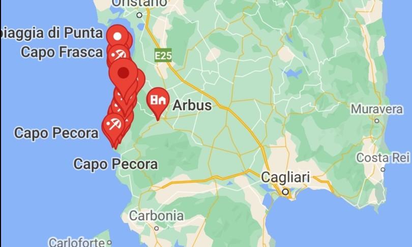 Sardegna spiaggia Arbus malore