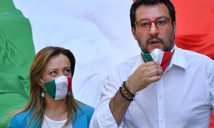 Salvini Meloni firmano appello destre Ue scontro con Letta