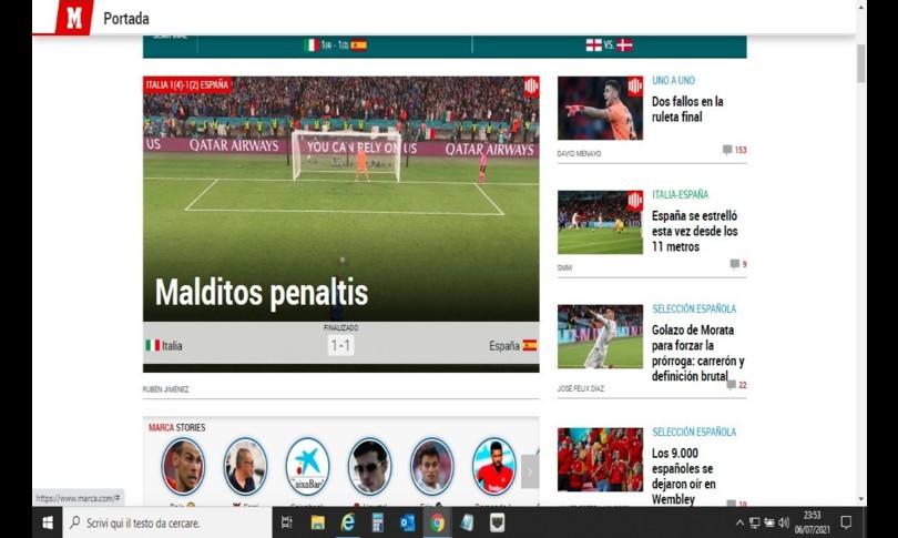 Europei stampa spagnola maledetti rigori