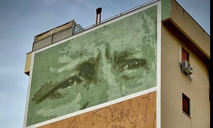 murale borsellino vicino Ucciardone