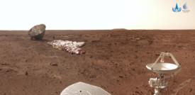 Il rover Zhurong fotografa il guscio che l'ha portato su Marte