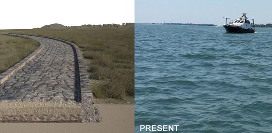 Scoperta un'antica strada romana sotto la laguna di Venezia