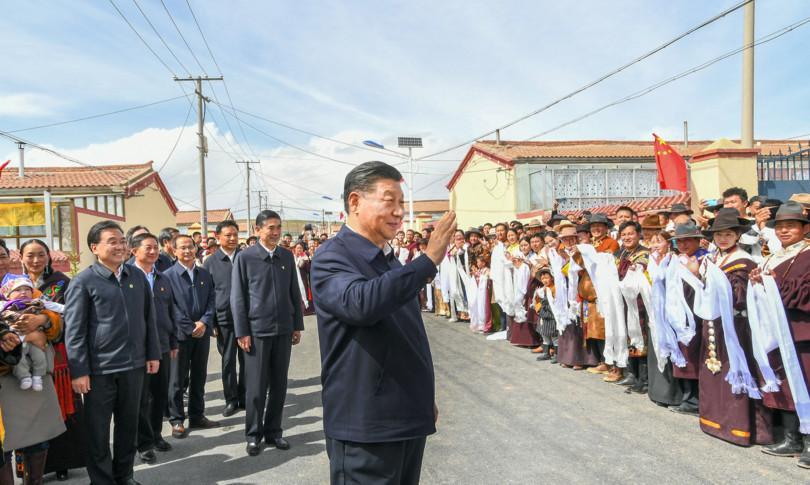 cina presidente cinese xi jinping visita tibet