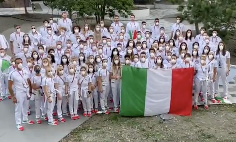 tokyo 2020 auguri italia mattarella video