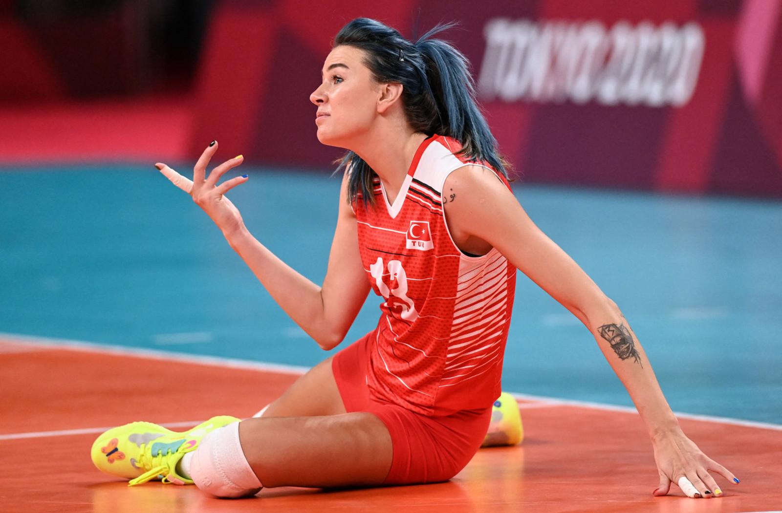 Meryem Boz della nazionale di pallavolo turca