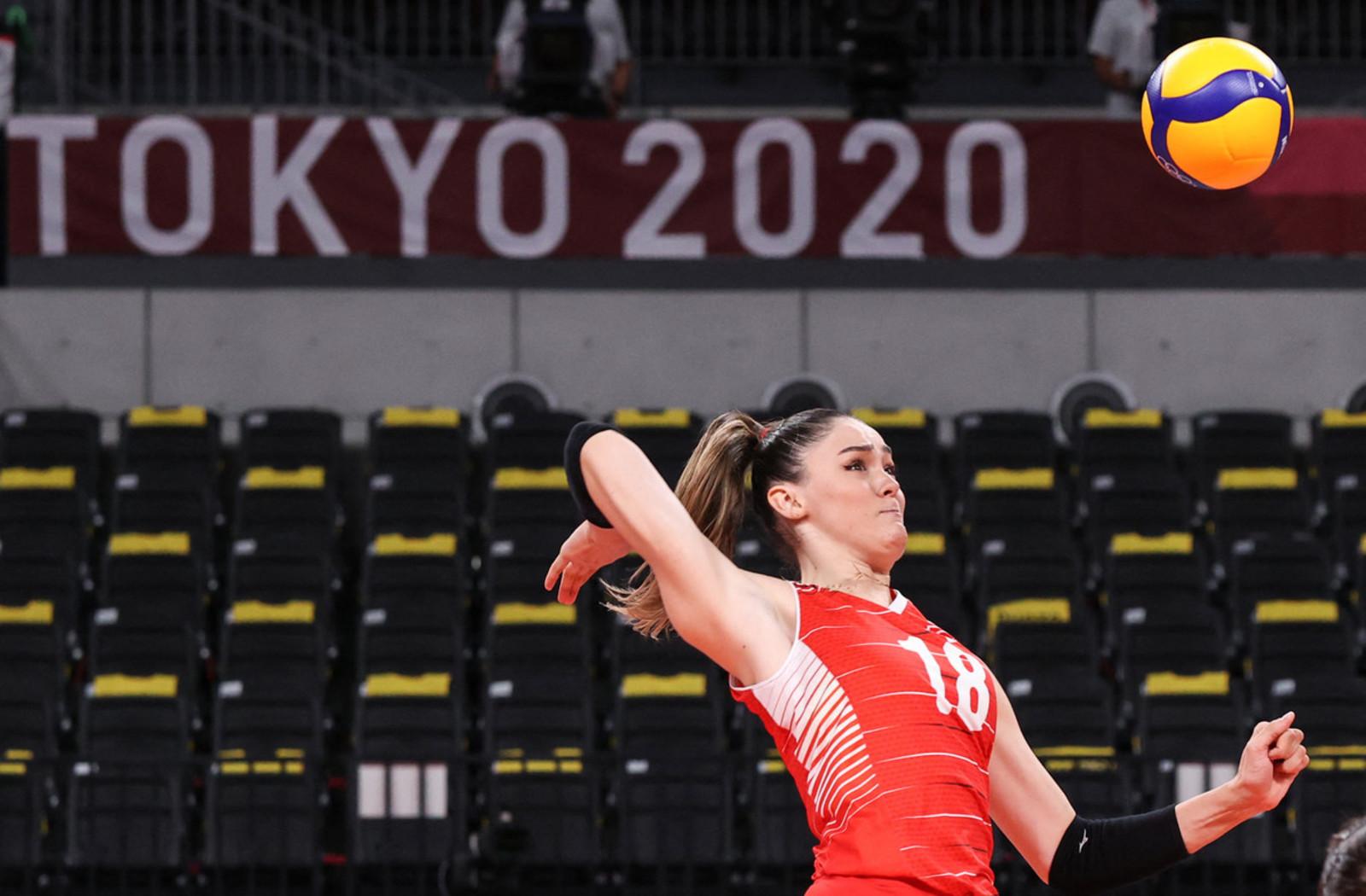 Zehra Gunes della nazionale di pallavolo turca