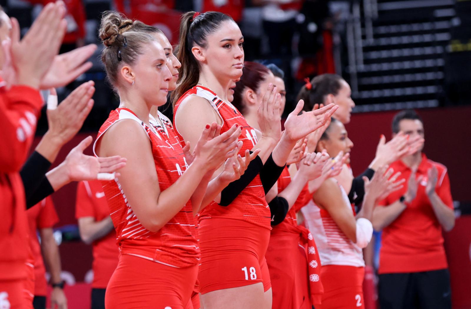 Le pallavoliste della nazionale turca