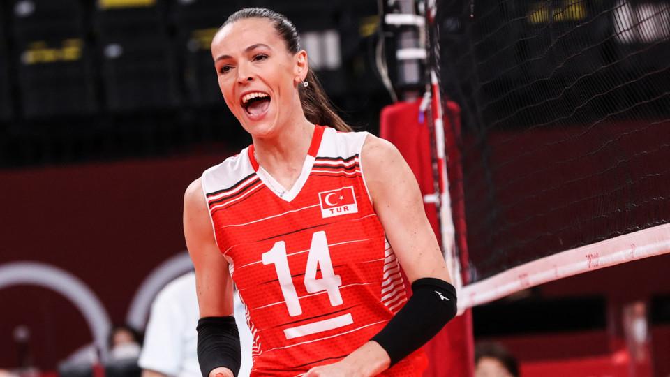 La pallavolista turca Eda Erdem
