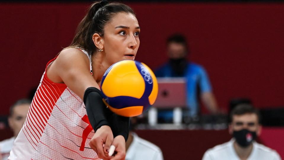 La pallavolista turca Hande Baladin