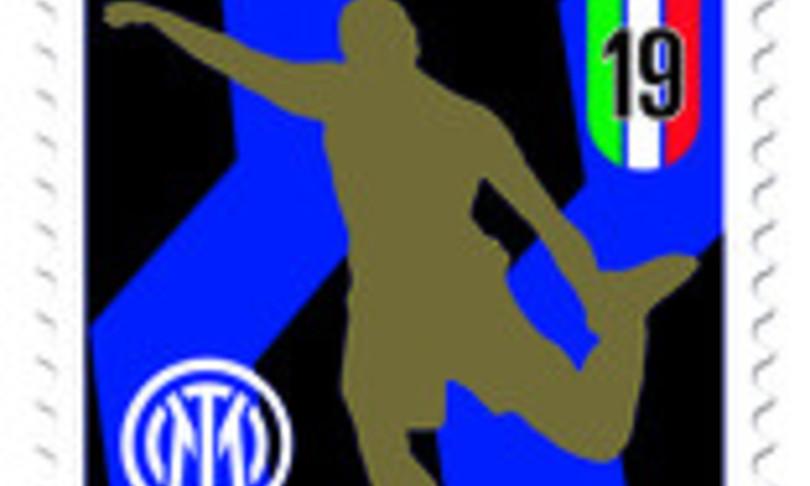 francobollo celebra inter campione italia