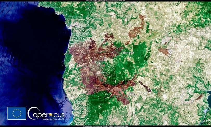 caldo incendi satelliti europa