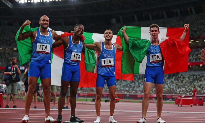 staffetta italia vittoria olimpiadi tokyo