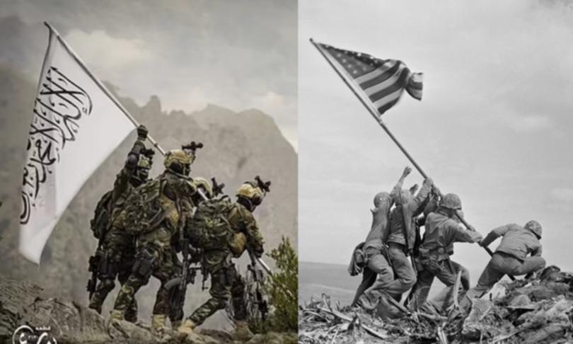Talebani scherniscono Usa in posa come foto marines Iwo Jima
