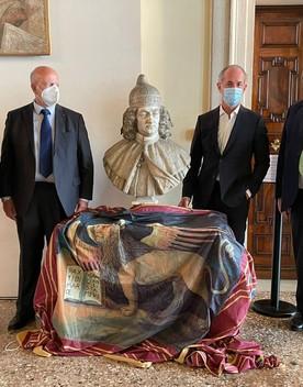 Il doge Corner torna a casa, il busto recuperato è stato donato alla regione Veneto