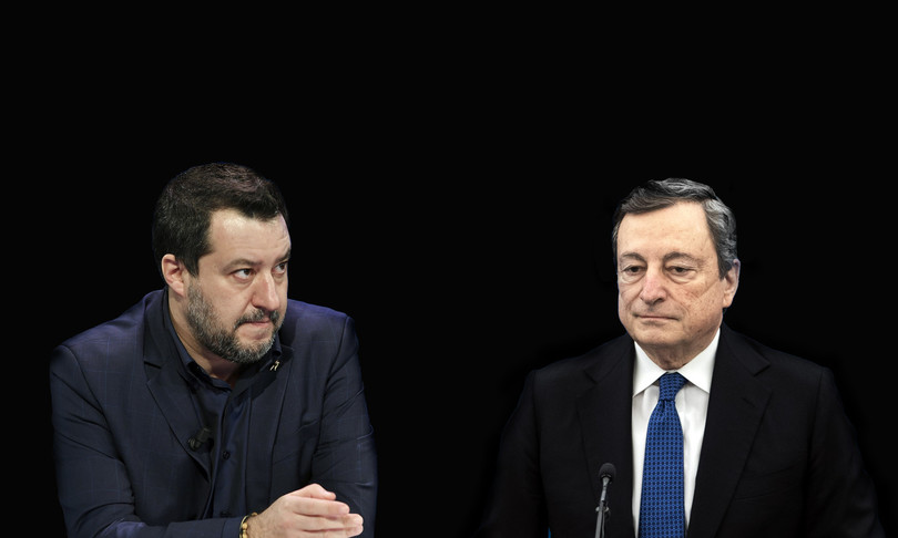 Letta blinda Draghi 2023 Salvini attacca