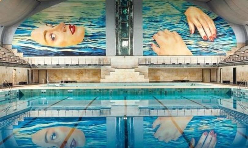 murales Cattelan piscina amata milanesi