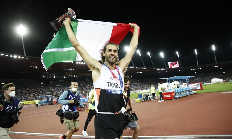 tamberi primo italiano a vincere la diamond league atletica