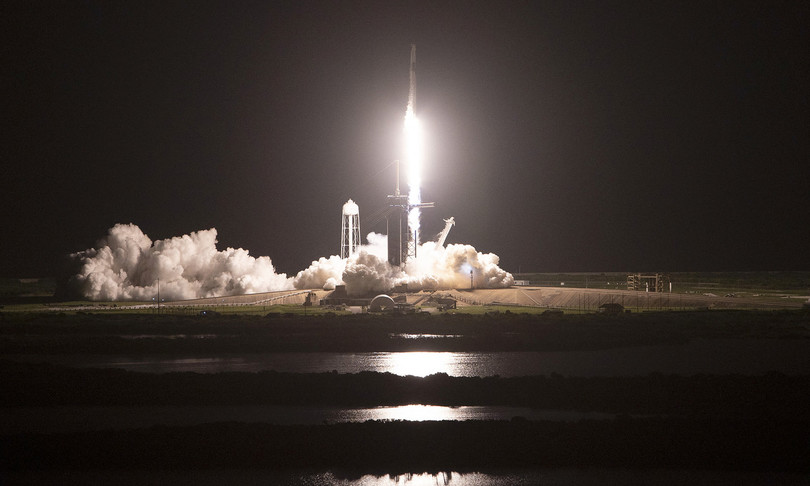 Space X decollato Inspiration4 civili spazio