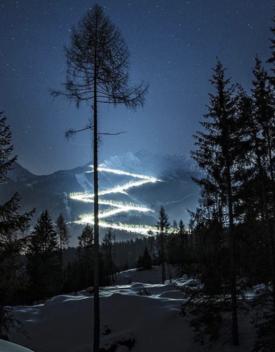 Un'idea illuminante per gli amanti dello sci