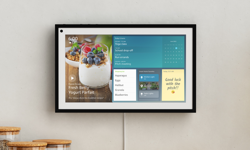 """Amazon presents the new Echo Show 15 with the Visual ID.  """"Privacy? No data on the cloud"""""""