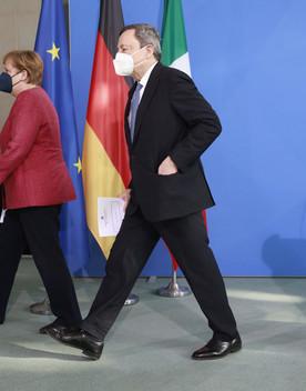 L'ultimo pranzo informale tra Draghi e Merkel
