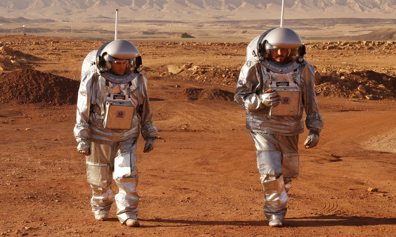 marte passeggiata addestramento deserto israele astronauti