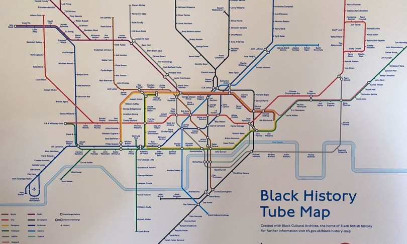 The new London Underground map dedicated to the black community