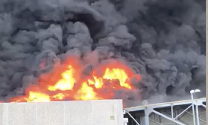 maxi incendio azienda logistica airola