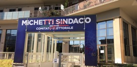 La sede del comitato elettorale di Michetti è stata vandalizzata