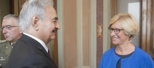 Libya: Pinotti meets Haftar in Rome on the stabilization agenda