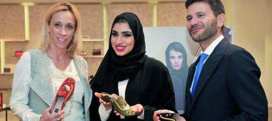 Qatari designer launches Italian collection of shoes