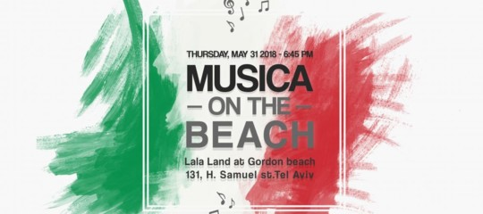 Italy-Israel: 'Musica on the beach'on Italy's National Day