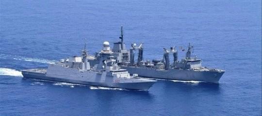 EU Navfor: Italian flagship ITS Margottini meets Spanish warships